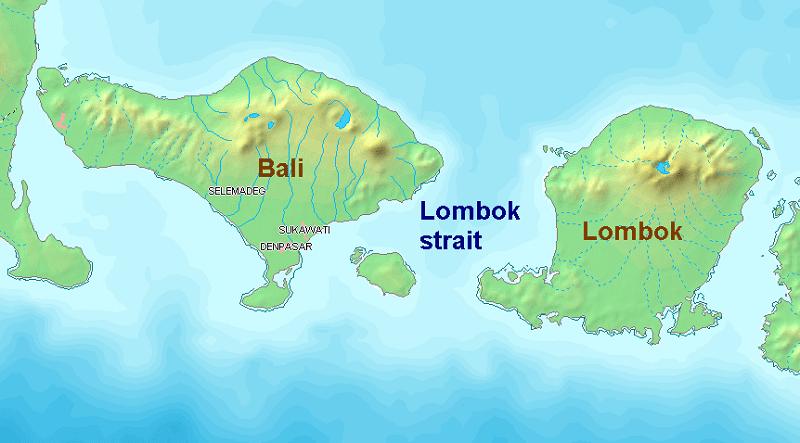 Lombok strait