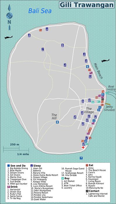 Gili Trawangan Map