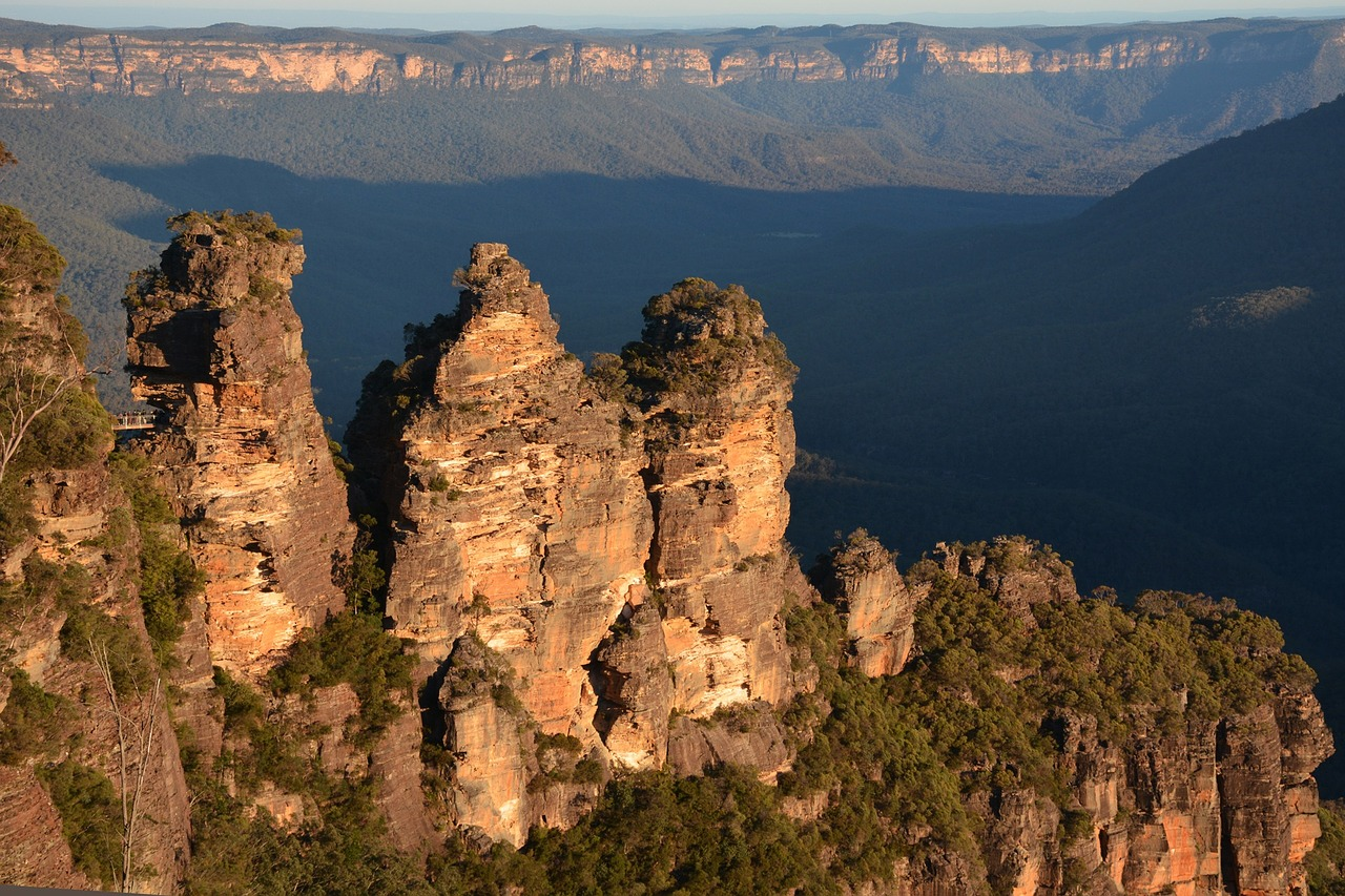 The Three Sisters rock formation in New South Wales, Australia