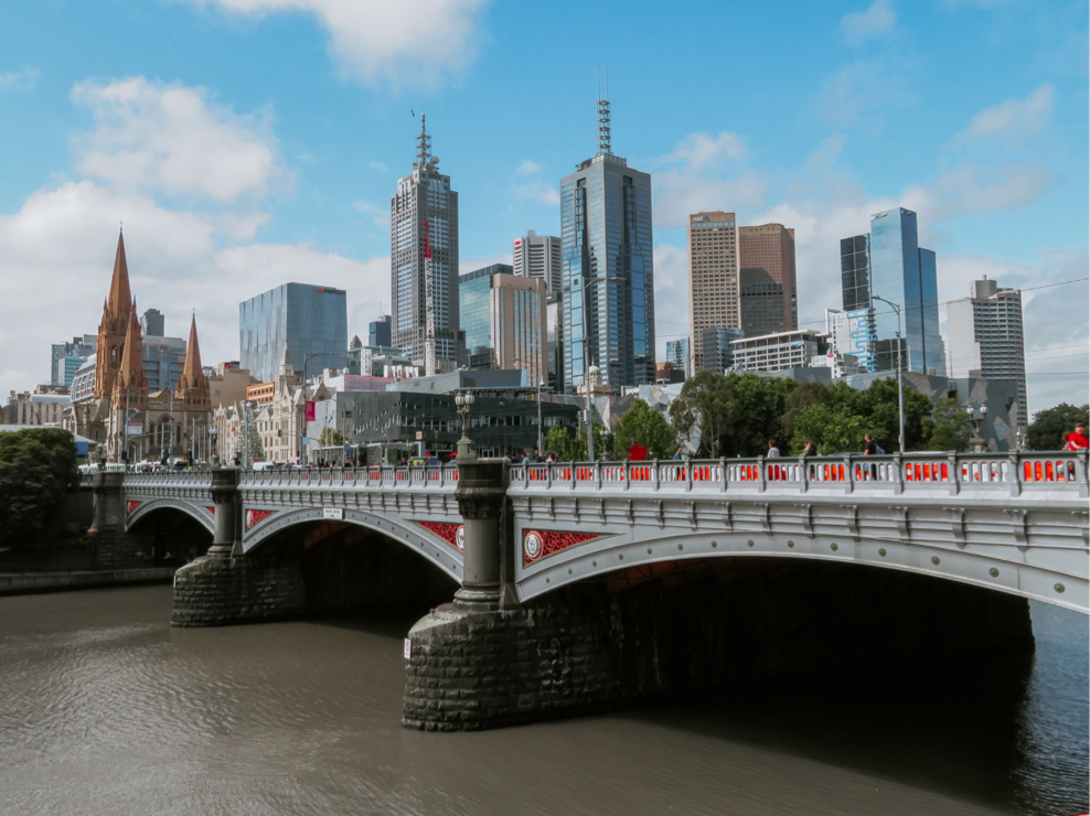 A view of the Princess bridge, Melbourne, Australia