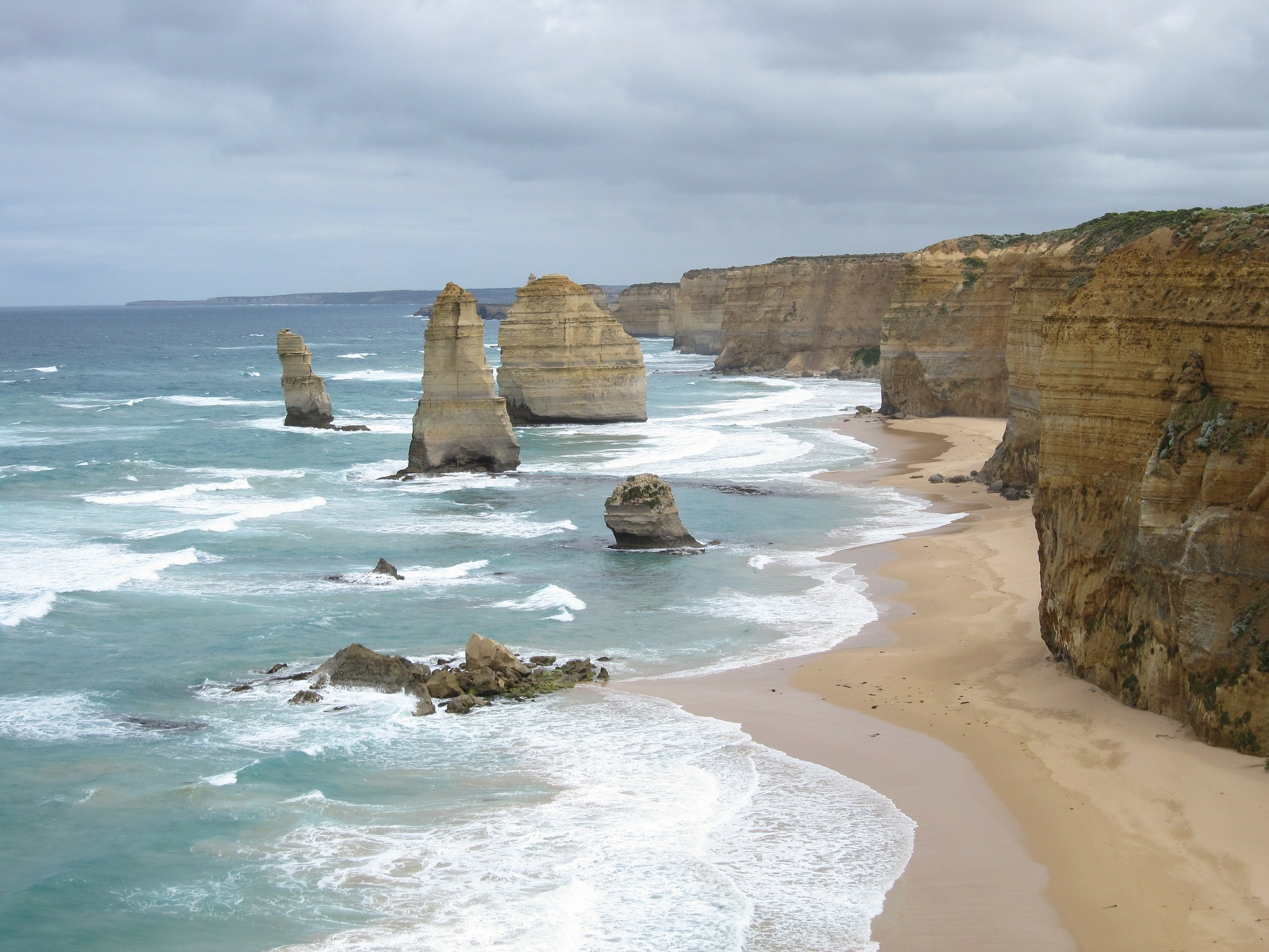 A view of the Great Ocean Road.
