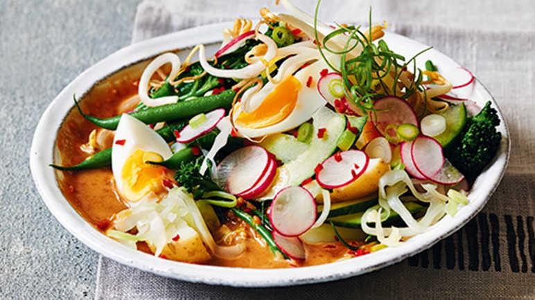 Gado Gado, an Indonesian salad.