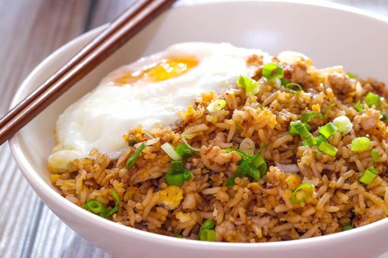 Nasi Goreng, Indonesian stir fried rice.